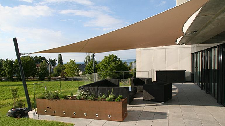 Sonnensegel Für Ihren Gartensitzplatz Sitrag Sonnensegel