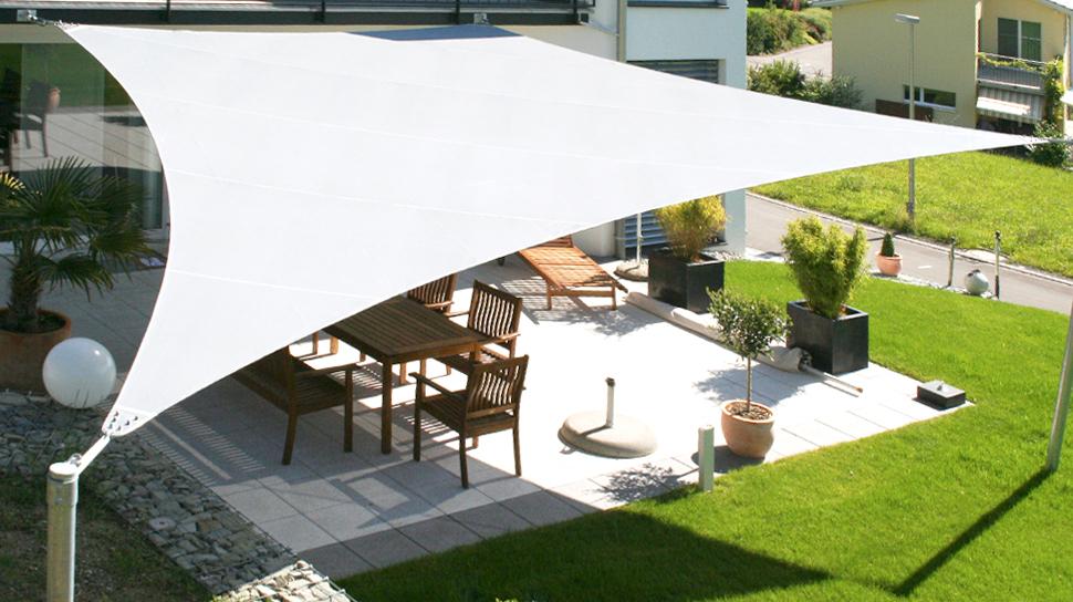 elegante schattensegel die sch nste art der beschattung sitrag sonnensegel. Black Bedroom Furniture Sets. Home Design Ideas